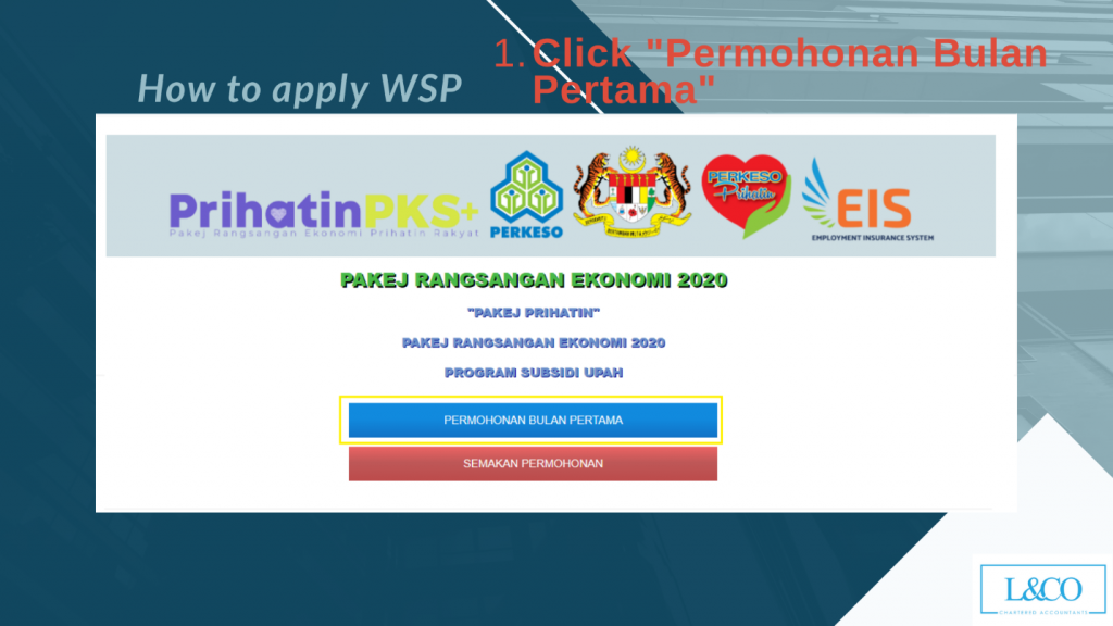 Step 1 How to apply WSP