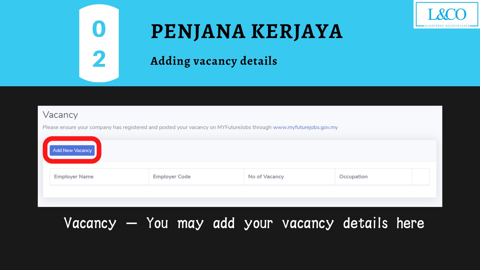 Penjana Kerjaya vacancy